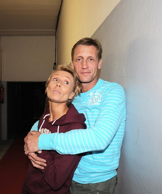 Tereza s přítelem Jiřím Chlebečkem