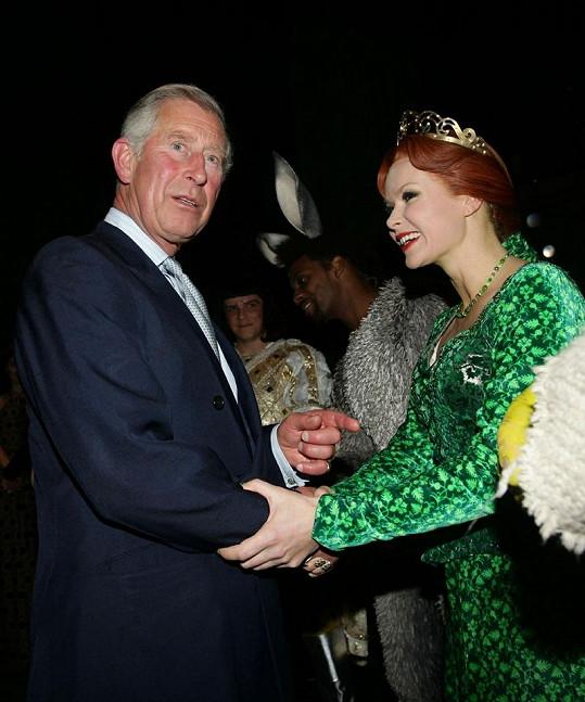 Seznámení princezny Fiony a prince Charlese.