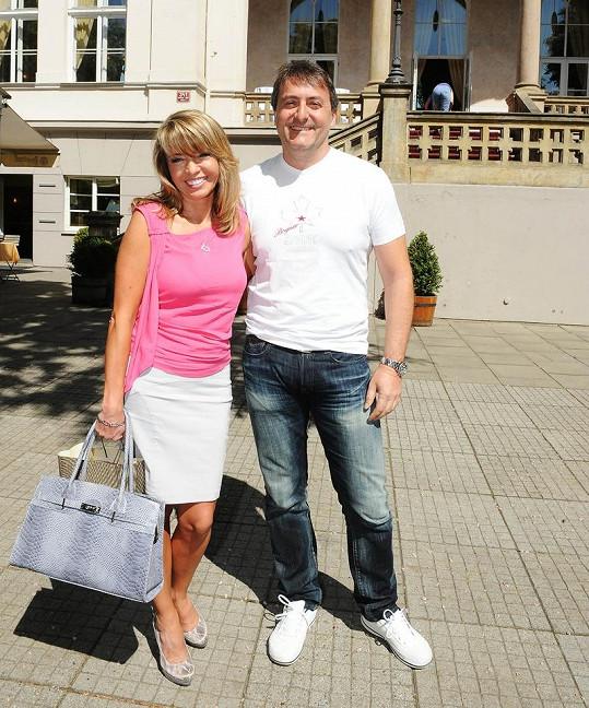 Pavlína s přítelem Milanem Benešem.