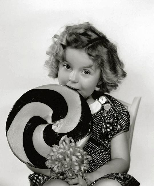 Shirley Temple jako čtyřletá.