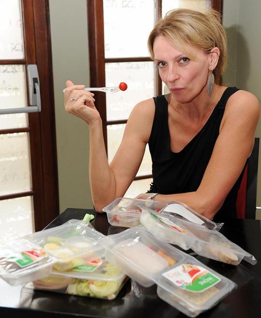Ivana Chýlková je z krabičkového stravování nadšená.