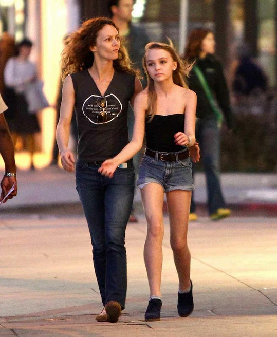 Vanessa Paradis s dcerou Lily-Rose Melody.