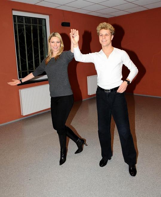 Kiera ještě včera večer trénovala valčík s profesionálním tanečníkem Honzou Onderem.