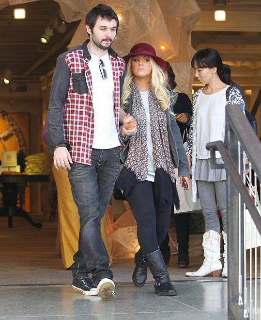 Christina Aguilera a její přítel Mat Rutler.