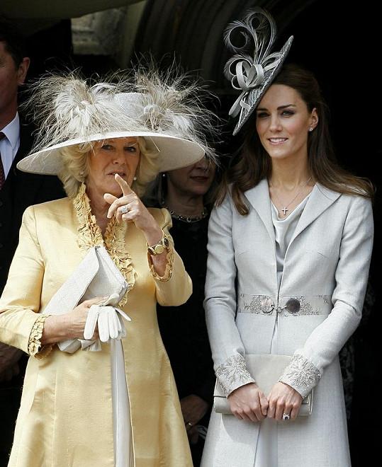 Princezna Catherine s nevlastní tchyní Camillou.