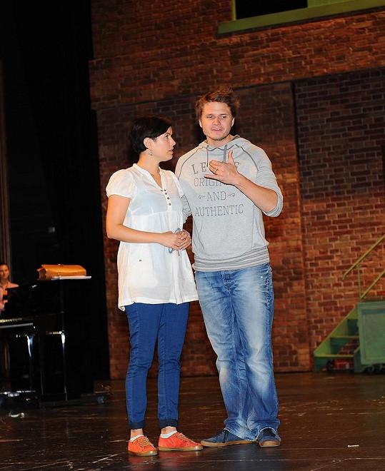 Ondřej Brzobohatý s hereckou kolegyní Zuzanou Norisovou.