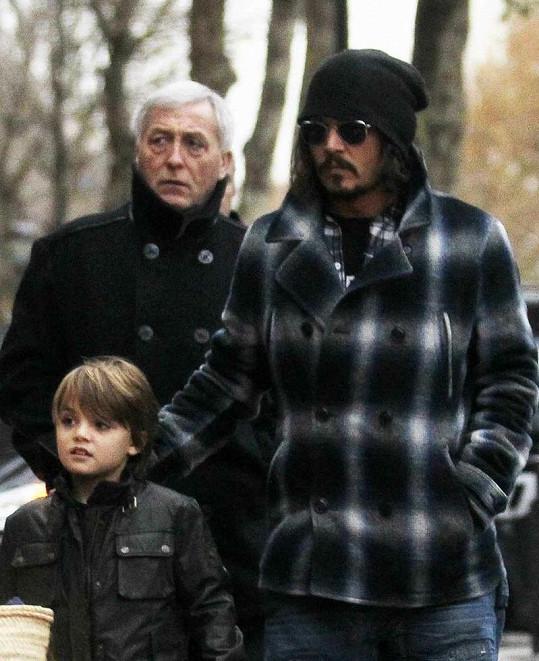 Johnny Depp se synkem Johnem Christopherem.