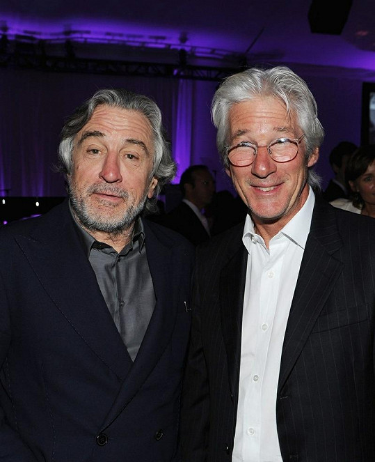 Richard a Robert De Niro na oslavě narozenin Tonyho Bennetta.