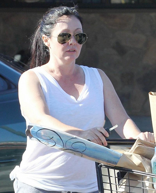 Herečka byla spatřena na nákupu v Malibu.
