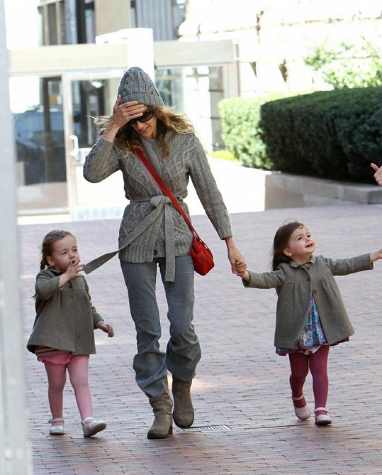 Sarah Jessica se svými dcerami.