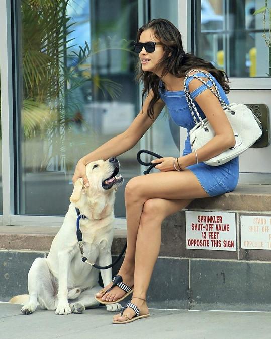 Irina se svým Césarem.