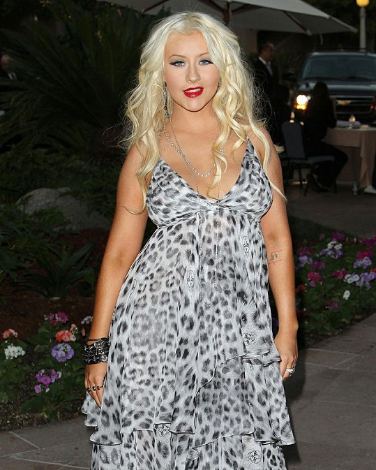 Christina Aguilera v Los Angeles.