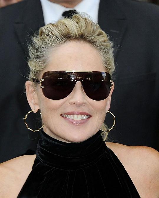 Sharon Stone na týdnu módy v Paříži.