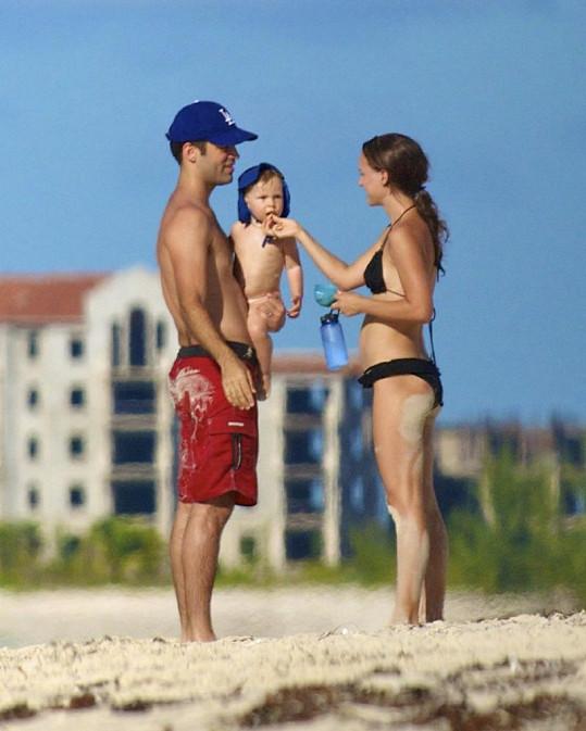 Natalie s rodinou na ostrovech Turks a Caicos.