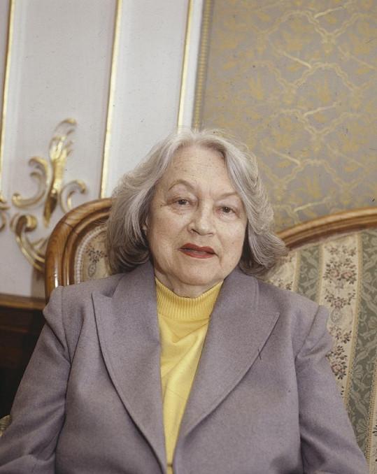 Adina Mandlová krátce před svou smrtí.