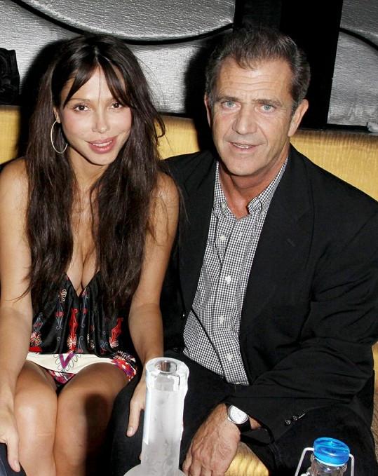 Mel Gibson s bývalou milenkou Oksanou Grigorievou.