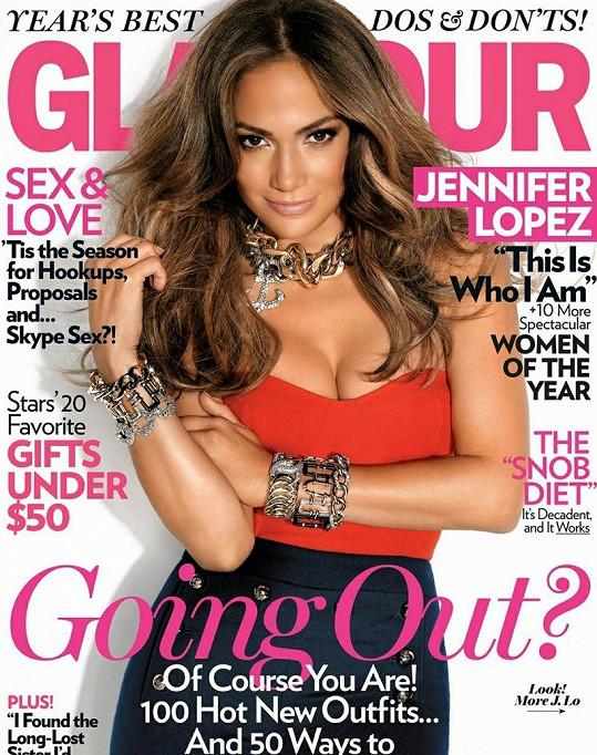 Zpěvačka na obálce časopisu Glamour.
