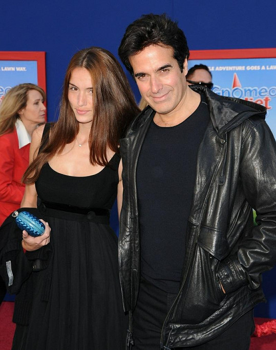 David Copperfield s Francouzkou Chloe Gosselin, s níž má rok a půl starou dceru Sky.