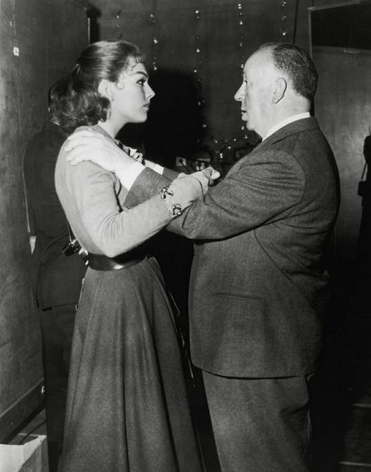 Robustní Alfred Hitchcock s herečkou Kim Novak.