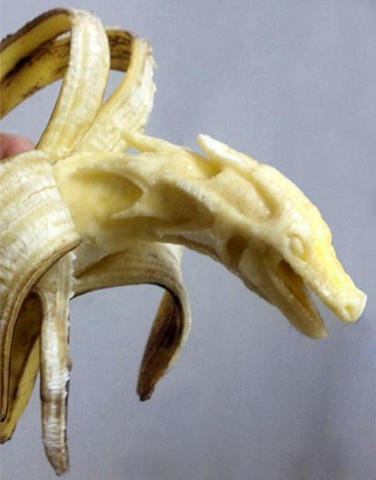 Tento banánový drak vám neublíží.