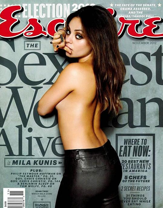 Sexy herečka na obálce časopisu.