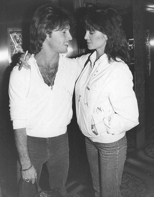Principal s přítelem Andy Gibbem, zpěvákem skupiny Bee Gees.