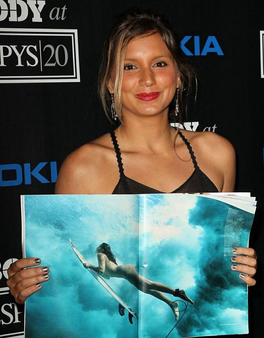 Surfařka Maya Gabeira z Brazílie.