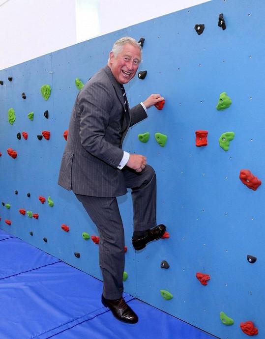 Veselý Charles nakonec sklidil za svůj lezecký výkon obdiv.