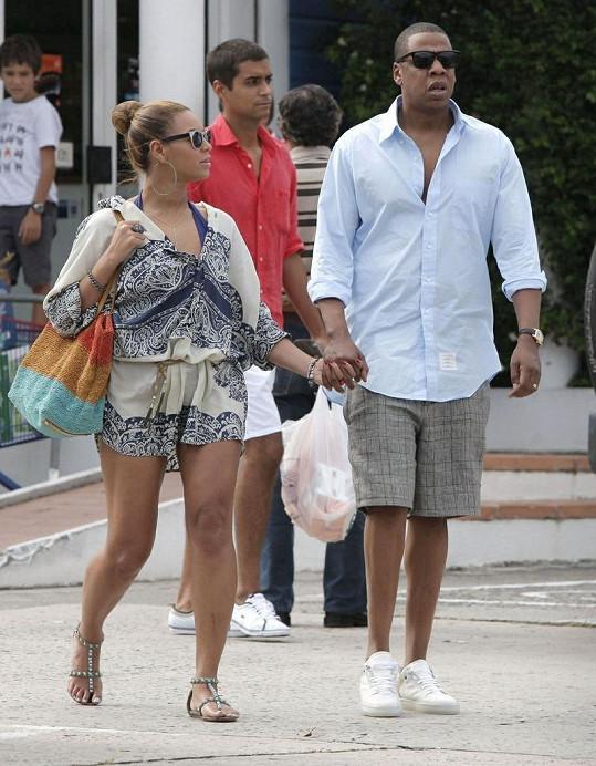 Beyoncé a Jay-Z na ostrově Svatý Bartoloměj.