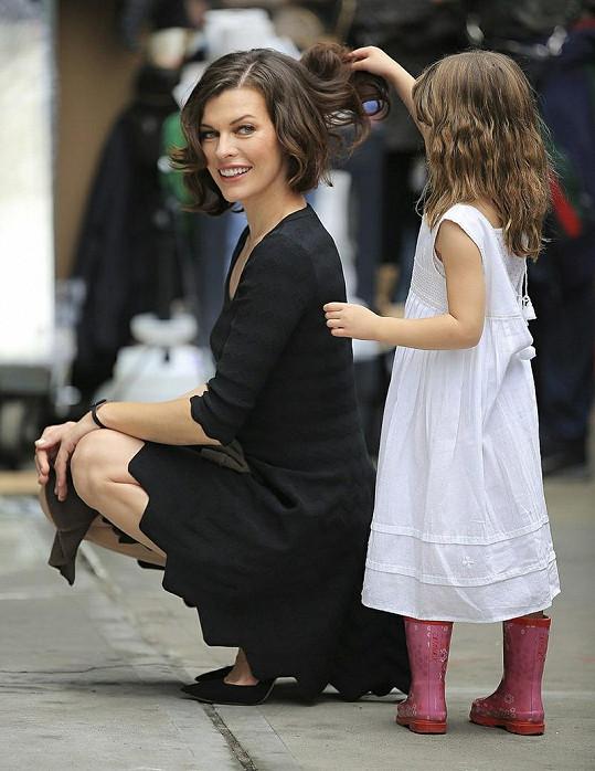Milla s dcerou Ever Gabo.