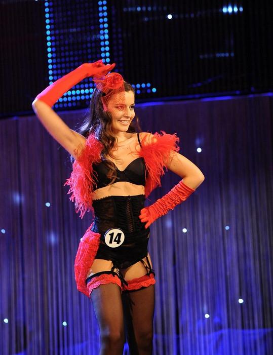 Tereza Chlebovská v rajcovním prádélku uchvátila při finále soutěže krásy.