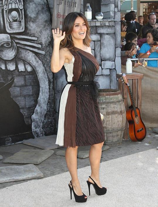 Vždy okouzlující herečka v sobotu představila Kocoura v botách také v Los Angeles.
