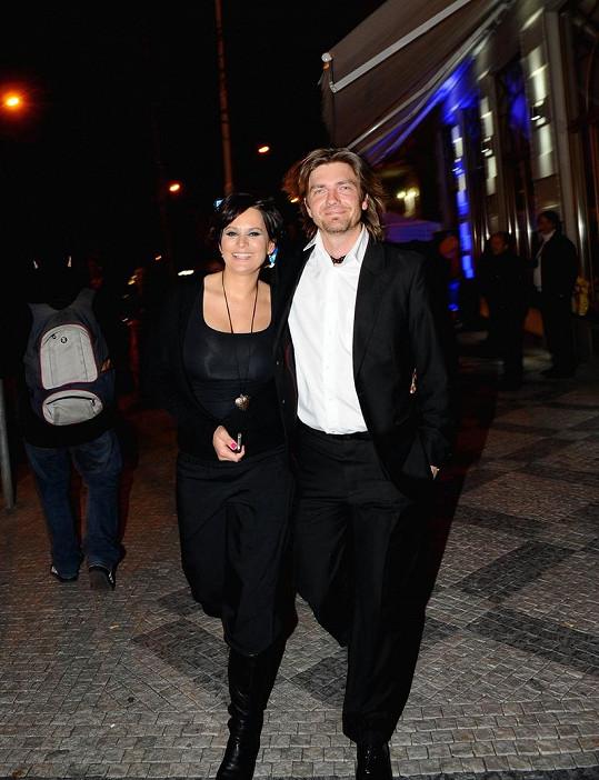 Jitka Čvančarová s manželem Petrem Čadkem na udílení cen TýTý.