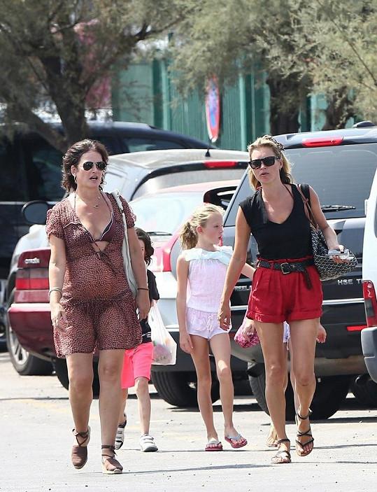 Kate Moss s Lilou Grace ve Francii.