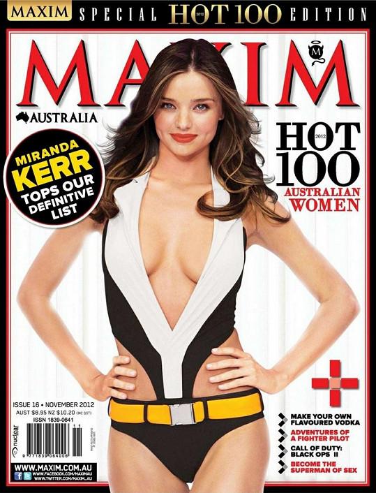 Tento sexy snímek Mirandy Kerr se objeví na obálce australského Maximu.