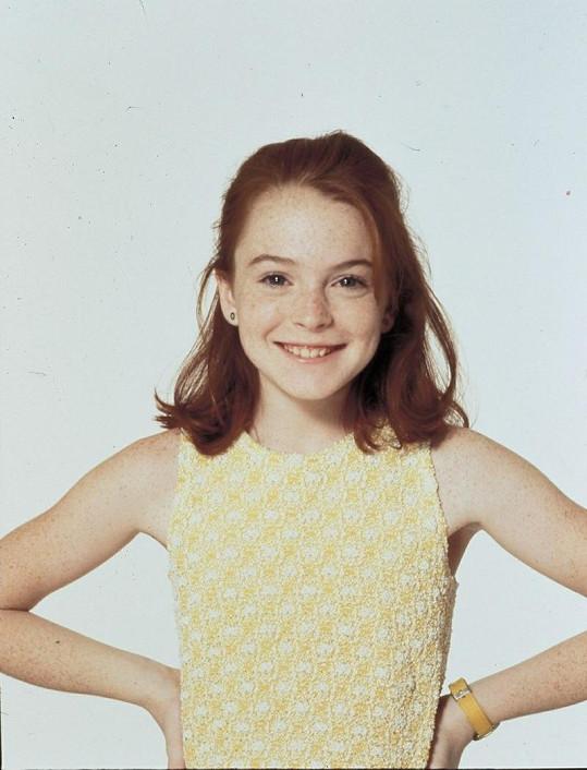 Lindsay Lohan ve svém prvním filmu Past na rodiče.