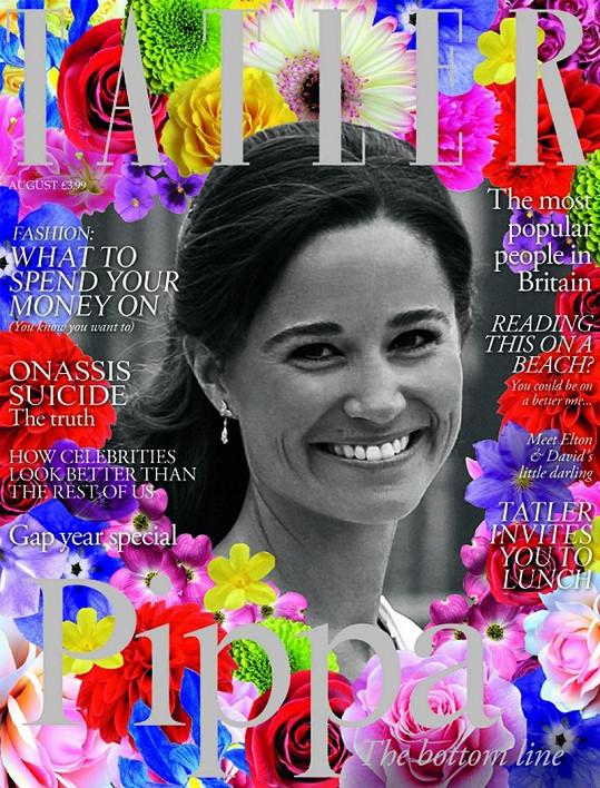 Pippa na obálce magazínu Tatler.