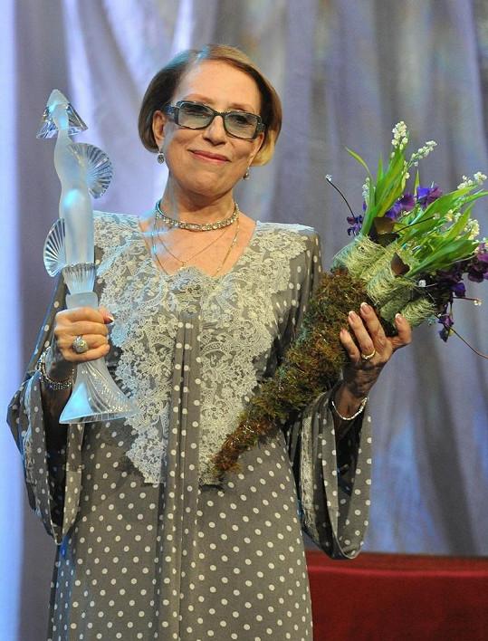 Herečka získala před dvěma týdny divadelní ocenění Turandot.