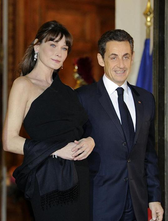 Francouzský prezident s manželkou.