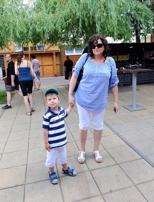 Ilona a její rozkošný syn Daniel.