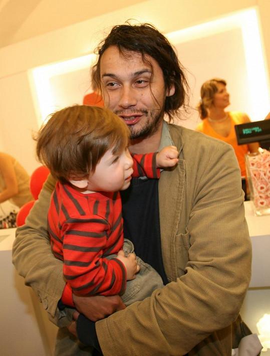Pavel Liška se synem.