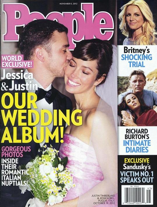 Novomanželé na obálce časopisu People.