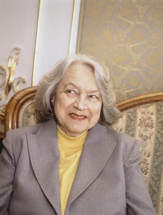 Adina Mandlová v roce 1991 krátce před svou smrtí.