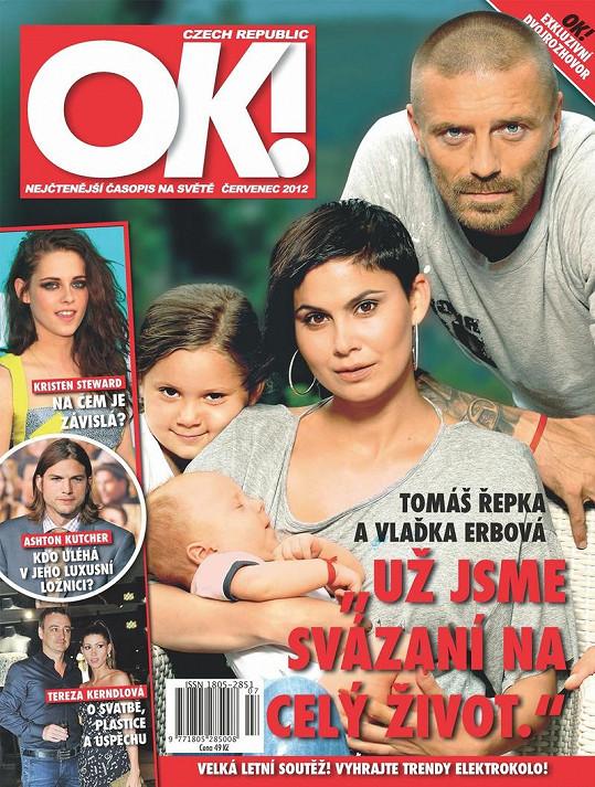 Vlaďka Erbová s přítelem Tomášem Řepkou, synem Marcusem a dcerou Viktorkou nafotili společné snímky.