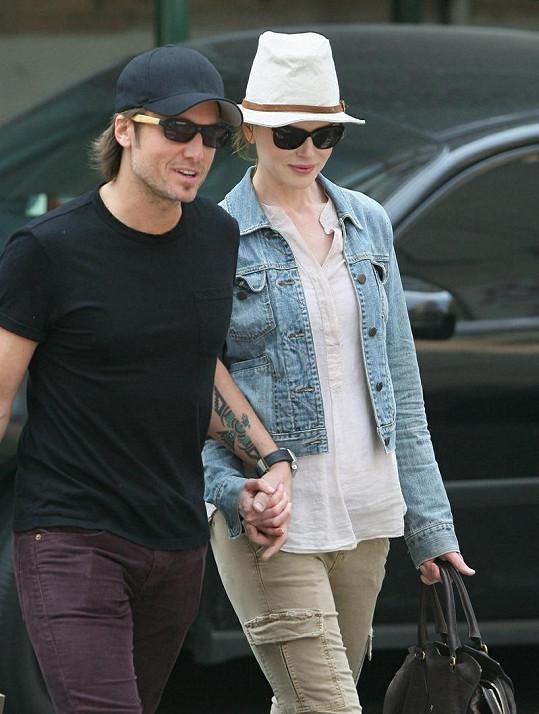 Nicole s manželem Keithem Urbanem.