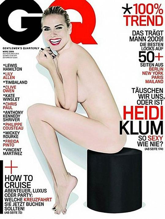 Před dvěma lety se Heidi úplně svlékla na titulní stranu březnového vydání.