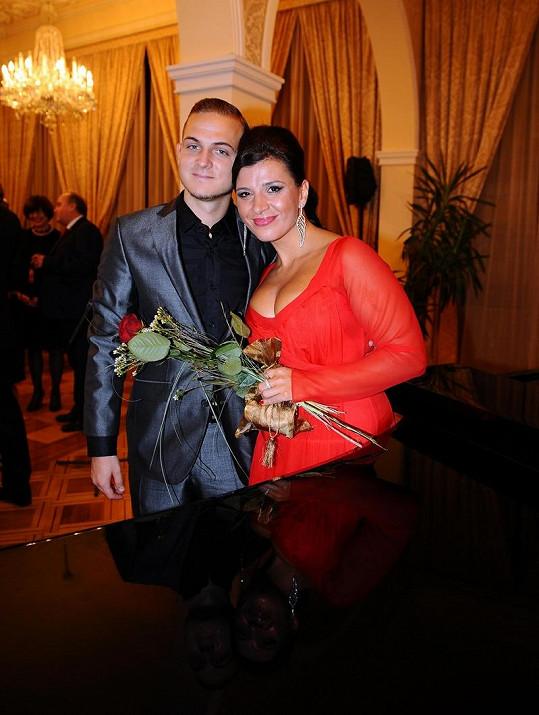 Andrea Kalivodová s přítelem Filipem Zikou.