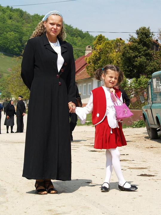 Kateřina v Rumunsku.