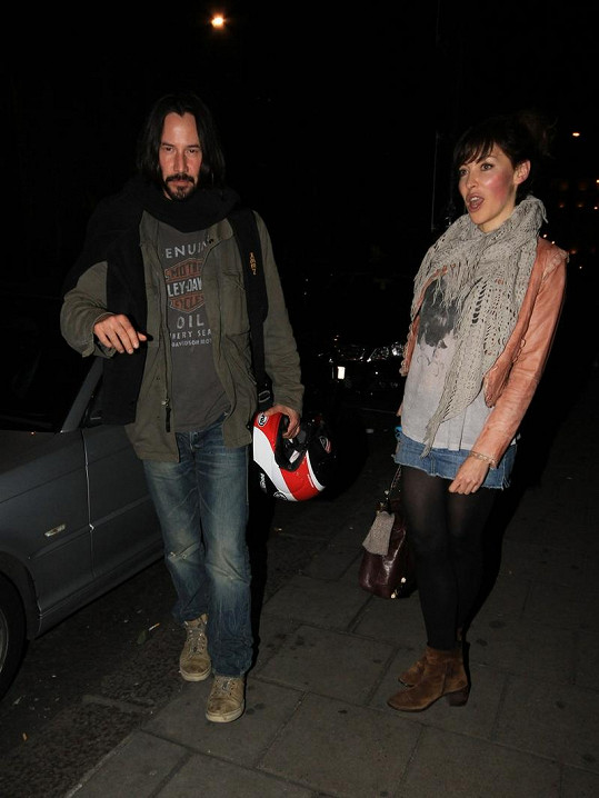 Keanu Reeves a jeho nový objev.