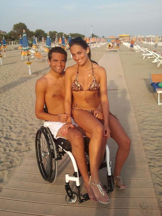 Martin Zach s bývalou přítelkyní Nikolou Hrubou